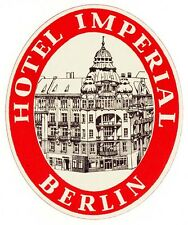 Hotel Imperial BERLIN luggage label Kofferaufkleber   #0135