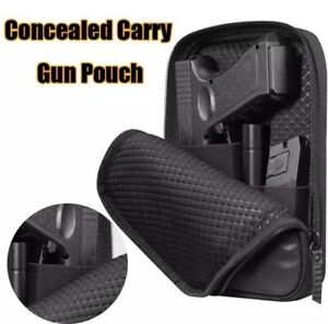 Tactical Concealed Gun Pouch Pistol Shoulder Bag Padded Pistol Case Gun Holster