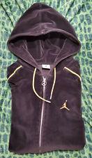 Jordan Velour Track Jacket Full Zip Black Gold Men's Size XL