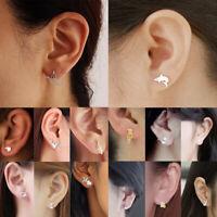 Fashion Girls Women Silver Sterling Earrings Cute Animals Ear Stud Jewelry Gift.