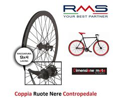 "CP Ruote Nere Fixed Contropedale 700 Profilo V 40mm per Bici 28"" Single Speed"
