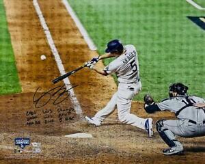 "COREY SEAGER Autographed WS Statistic 16"" x 20"" Photograph FANATICS LE 1/6"