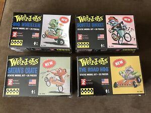 Weird-ohs model kits Big Wheeler Satans Crate Road Hog Scuttle Bucket lot