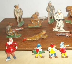 VC880~LARGE GROUP TOY SOLDIERS / FIGURES ~ BARCLAY / MANOIL CAST IRON ETC.