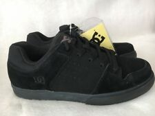 DC Shoes Men's Low Top Shoes Black Leather Suede Skateboard Sneaker Skate Shoe 9