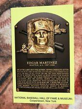 Edgar Martinez Postcard- Baseball Hall of Fame Induction Plaque - Photo