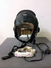 NEW 1970 Russian Soviet USSR Aviator Leather Helmet