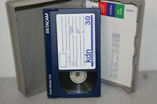 Sony Betacam Sp Video Cassette Tape Cartridge Bct-30G Back Coated