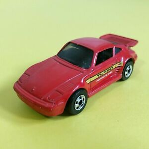Porsche Turbo 930 Turbo #148 Mattel Hot Wheels Mainline Die-Cast Vintage 1989