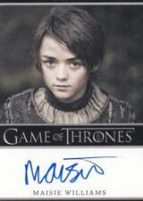 Game of Thrones Season 2 Maisie Williams as Arya Stark Stark Auto Card