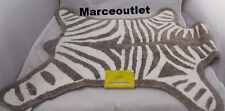 Jonathan Adler Cotton Reversible Zebra Bath Rug Gray / White