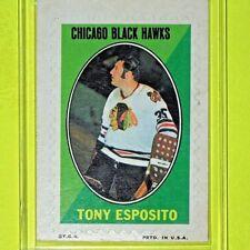 "TONY ESPOSITO  '70-71  "" STICKER STAMPS ""  Topps #7   Chicago BlackHawks  (001)"
