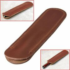 Genuine Leather Handcrafted Single Pen Pencil Bag Holder Storage Sleeve Pouch