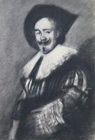 Bild Antike Porträt Gentleman Künstler Französisch Pierre Duteurtre Prüfling