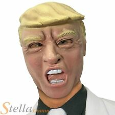 Adult Rubber Donald Trump Face Mask Celebrity President Fancy Dress Outfit