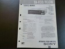 Original Service Manual SONY Stereo Amplifier TA-V 33 / V 33 W