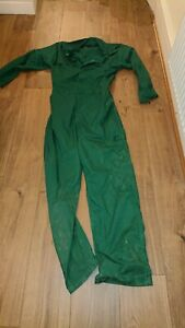 Ladies Or Mens Or Kids Use Green Colour Boilersuit Or Overalls.