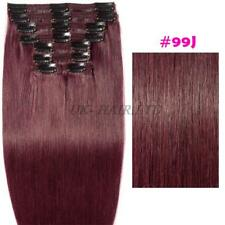 Thick Natural 100% Human Hair Extensions Real Remy Full Head Clip In Double F513