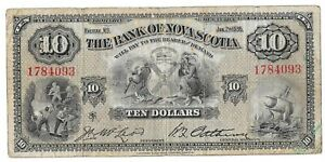 1935 Bank of Nova Scotia 10 Dollar Bill
