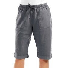 FRESH PRODUCE Large Charcoal Gray PARK AVE Pedal Pushers Shorts NWT New L