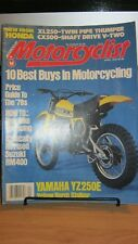 "Vintage ""MOTORCYCLIST"" Apr.1978-112pages Yamaha YZ50E-SUZUKI RM400-CX500-XL250"