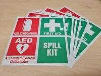 Fire First Aid Spill Sticker Safety OHS WHS Extinguisher Contractor Construction