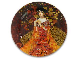 Gustav Klimt Glasteller Platte rund 15 cm Motiv Adele Bloch-Bauer