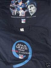 ADAM GRAVES NEW YORK RANGERS RETIREMENT NIGHT OFFICIAL T-SHIRT RARE