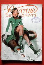 ICE SKATE COVER REVUE DES MONTAS 1933 CAROLE LOMBARD RISQUE GERMAN MAGAZINE