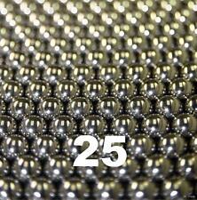 "25 1/8"" Inch G25 Precision Chromium Chrome Steel Bearing Balls AISI 52100"