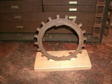 vintage industrial steam punk cast iron round metal gear old machine part art 1b