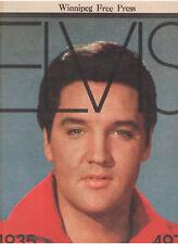 ELVIS PRESLEY TRIBUTE WINNIPEG FREE PRESS MANITOBA CANADA INSERT 1977 CANDID