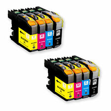 8 Pack New Ink Set + chip use for Brother LC203 MFC J460DW J480DW J485DW LC201