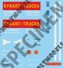 1/87 DECAL SET RYNART TRUCKS H0