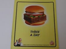 2000 WENDY'S eat Three squares a day print ad