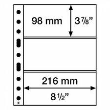 Leuchtturm Kunststoffhüllen SH 312, 3 Taschen quer für Banknoten, PP, klar, 50er