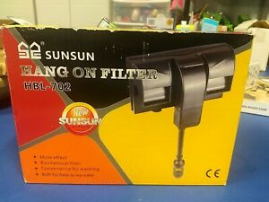 SunSun HBL-702 Hang on Power Filter w/ Biochemical filter,fresh/sea water,120 V