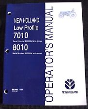 GENUINE NEW HOLLAND 7010 8010 LOW PROFILE TRACTOR OPERATORS MANUAL VERY NICE
