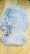 Stokke shaped LUXURY Sheepskin Merino Fur Pram Liner, Xplory, Trailz. Mid Grey.