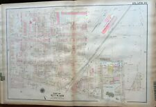 1923 G.W. BROMLEY PHILADELPHIA PA, OLNEY STATION & POST OFFICE, ATLAS PLAT MAP