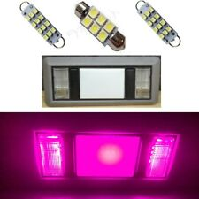 2 Map 1 Dome Pink LED Interior lights for 1988-1998 Chevy Silverado/GMC Sierra