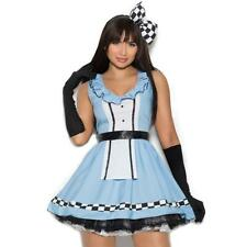 Storybook Alice Wonderland Costume Dress Checkered Large Bow Apron Gloves 99084