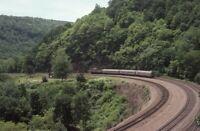 AMTRAK Railroad Locomotive Train Horseshoe Curve Altoona PA Original Photo Slide