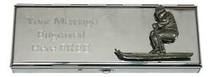 Skier 7 Day Pill Box With Mirror & Personalised Message 333