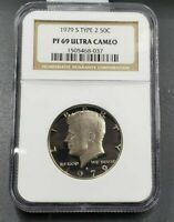 1979 S Kennedy Clad Half Dollar Coin NGC PF69 UCAM Type 2 Variety