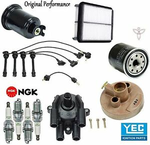 Tune Up Kit Filters Cap Rotor Spark Plugs Wire for Toyota Previa 1994-1997