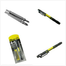 Multi-function 4 in 1 Pen-Shaped Alloy Repairs Screwdriver Dual Tip Sizes 3/4 mm