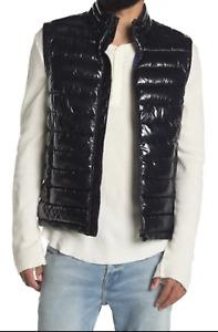 HUGO BOSS Cilla Water-Repellent Quilted Gilet Vest, Size 46 US, Navy - $348 MSRP