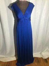 Tiffany Rose women 2 designer maxi dress-royal blue-from England-empire waist