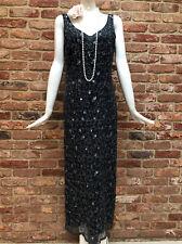 NEXT Vintage Grey Sequins Flapper Gatsby 1920s Charleston Party Dress Size 12